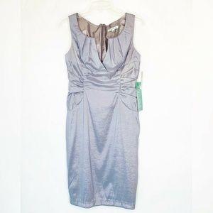 NWT Simply Liliana Pleated Dress Blue Lined 6